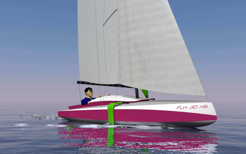 2.4 class sailboat
