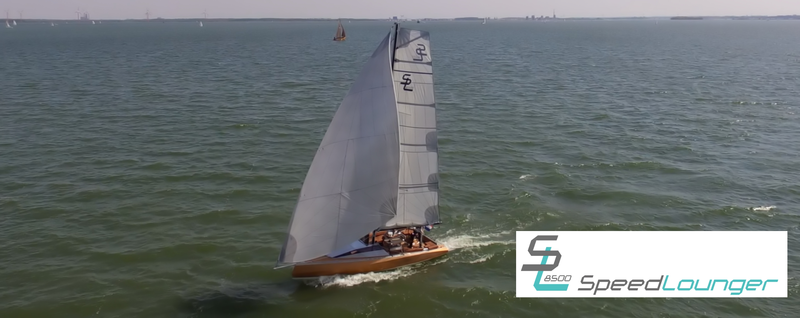 Drone footage sailboat